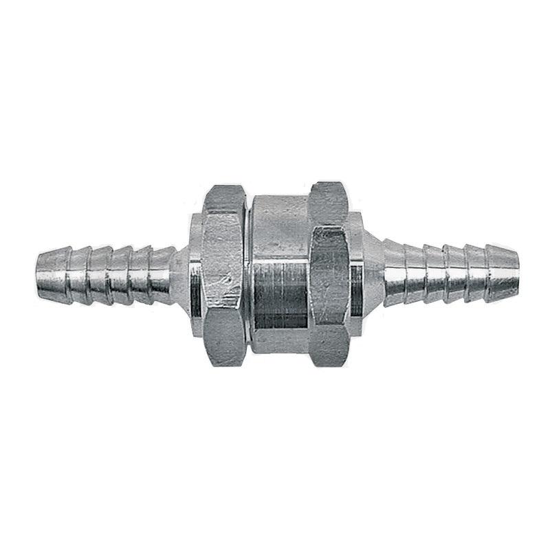 Zpětný ventil pro palivové hadice o průměru 12 mm průtokový odpor 0,25 bar při 120 l/h