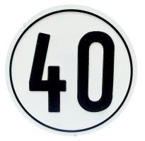 Samolepka omezení rychlosti 40 km/h průměr 200 mm pro Francii