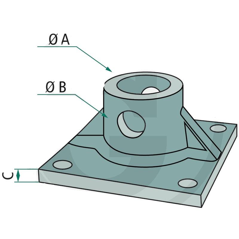 Adaptérová deska PR50 pro hydraulický rotátor Baltrotors GR46