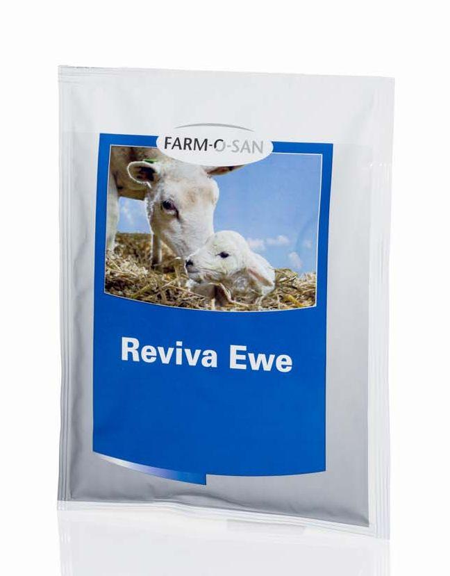 Farm-O-San Reviva Ewe 100 g energetický nápoj pro obnovu metabolismu po porodu ovcí a koz
