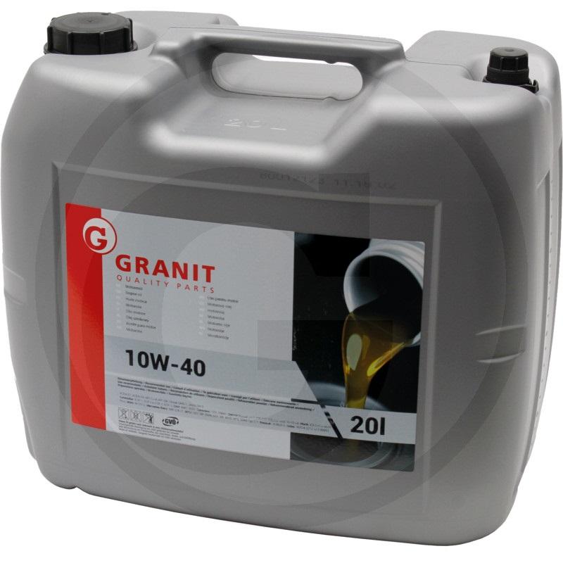 Motorový olej Granit SHPD Low Ash SAE 10W-40 celoroční olej nejvyšší kvality 20 l