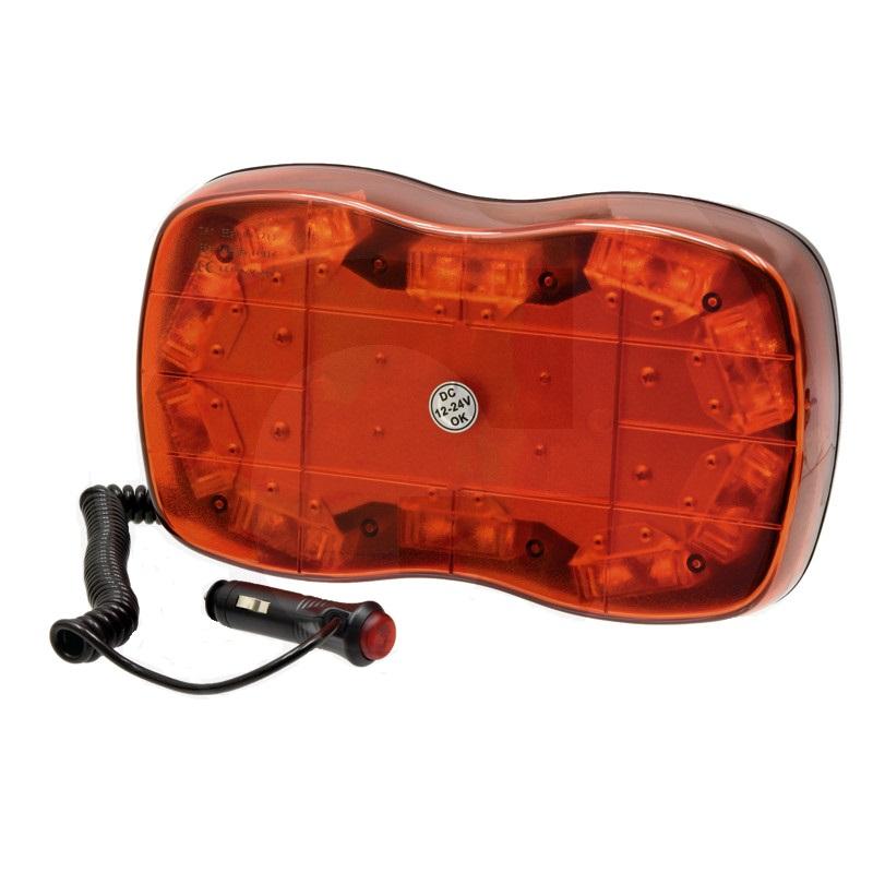 LED výstražný systém multifunkční 12V a 24V magnetický do zásuvky ABS