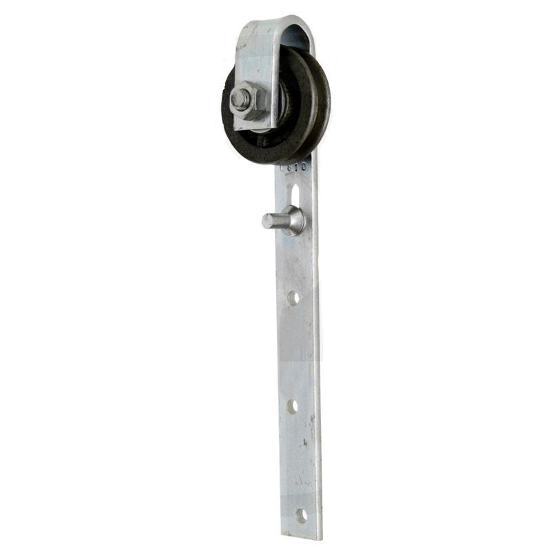 Pojezdové kolečko pro ručně posuvné dveře s kluzným kolíkem
