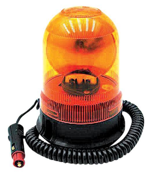 Oranžový výstražný maják magnetický 12 V na auto, traktor, zemědělské stroje