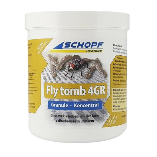 Granulovaný koncentrát Schopf Fly tomb 500g na hubení larev much s dlouhodobým účinkem