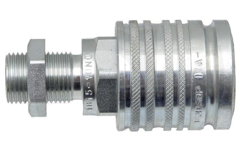 Hydraulická spojka, rychlospojka samice s přepážkou KM-S 18L (M26x1,5) DN12-BG3