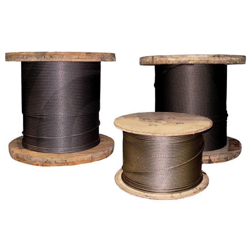 Lesnické ocelové lano průměr 10 mm na lesní naviják metráž