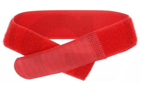 Páska na nohu se suchým zipem pro označování zvířat červená 10 ks