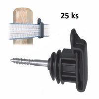Páskové izolátory s vrutem IRUVIS pro elektrický ohradník balení 25 ks