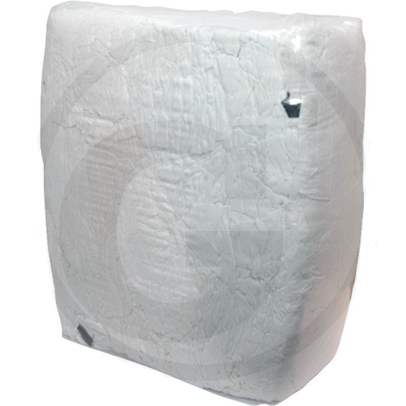 Savá trikotová tkanina bílá na čištění strojů a nářadí, hadry na šmír bílé 10 kg