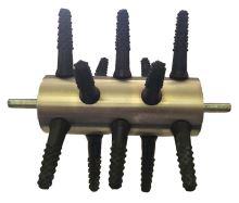 Škubací válec velký Spiumatrice DITRU08 s hřídelí, 15 prsty pro škubačku na vrtačku