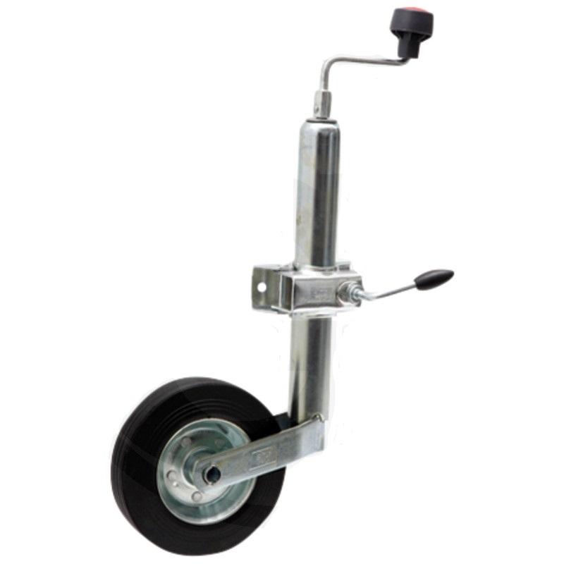 Opěrné kolečko k přívěsu, přívěsnému vozíku nosnost 150 kg trubka 48 mm včetně držáku