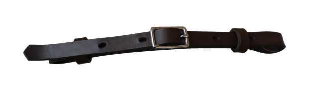 Westernový podbradní řemínek na koně MONTANA kožený černý
