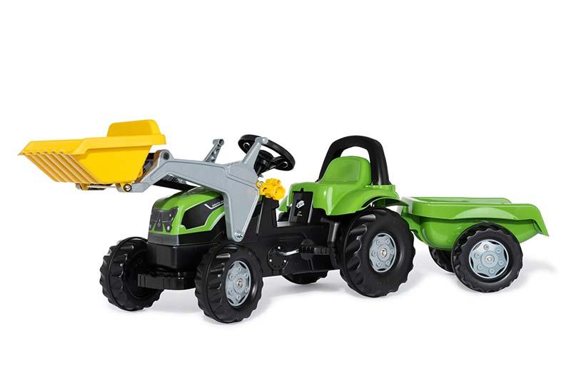 Rolly Toys - šlapací traktor Deutz Agrolux s přívěsem a čelním nakladačem Rolly Kid