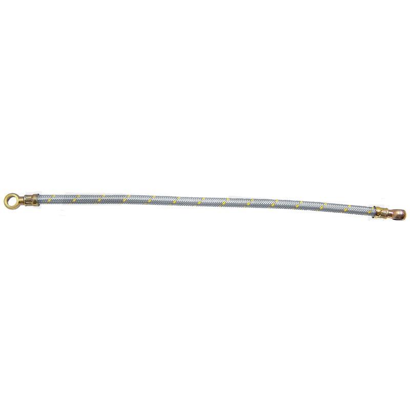 Nízkotlaká palivová hadice přetočená 90° s kruhovým spojem na obou stranách