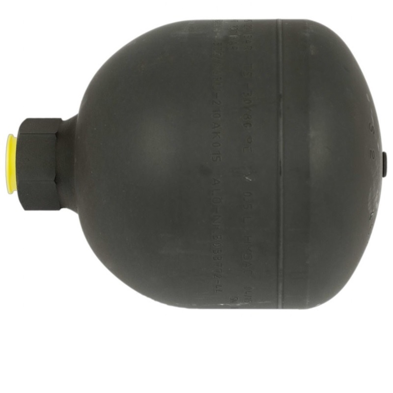 Akumulátor tlaku 0,5 l 22 BAR R1/2″ originál Quicke vhodné pro SoftDrive, Dimension G2.0