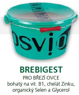 Minerální liz TOPLICK Osvior BREBIGEST melasový pro březí ovce 20 kg