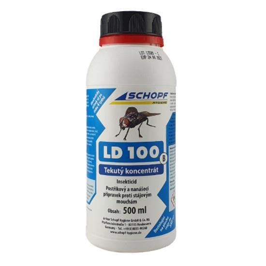 Schopf LD 100 B tekutý koncentrát k hubení much ve stáji 500 ml, účinná látka Cypermethrin