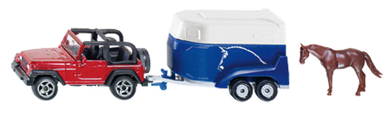 Siku – Jeep s přívěsem na přepravu koní 1:87