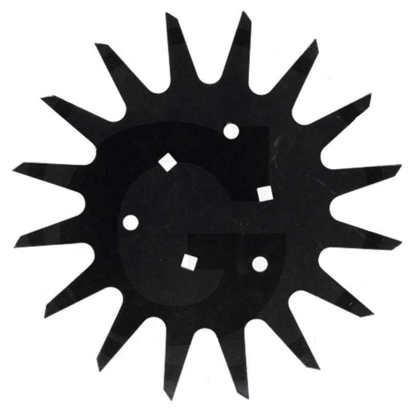 Hvězdicový kotouč vhodný pro kejdovače Kuhn Striger, Strip-Till