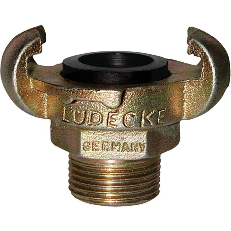 """LÜDECKE hadicová spojka proti loupeži vývrt 17 mm DIN 3489 vnější závit 3/4"""" na vzduch"""