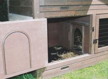 Dvoupatrový domek pro králíky, králíkárna zateplená Tyrol ALPIN