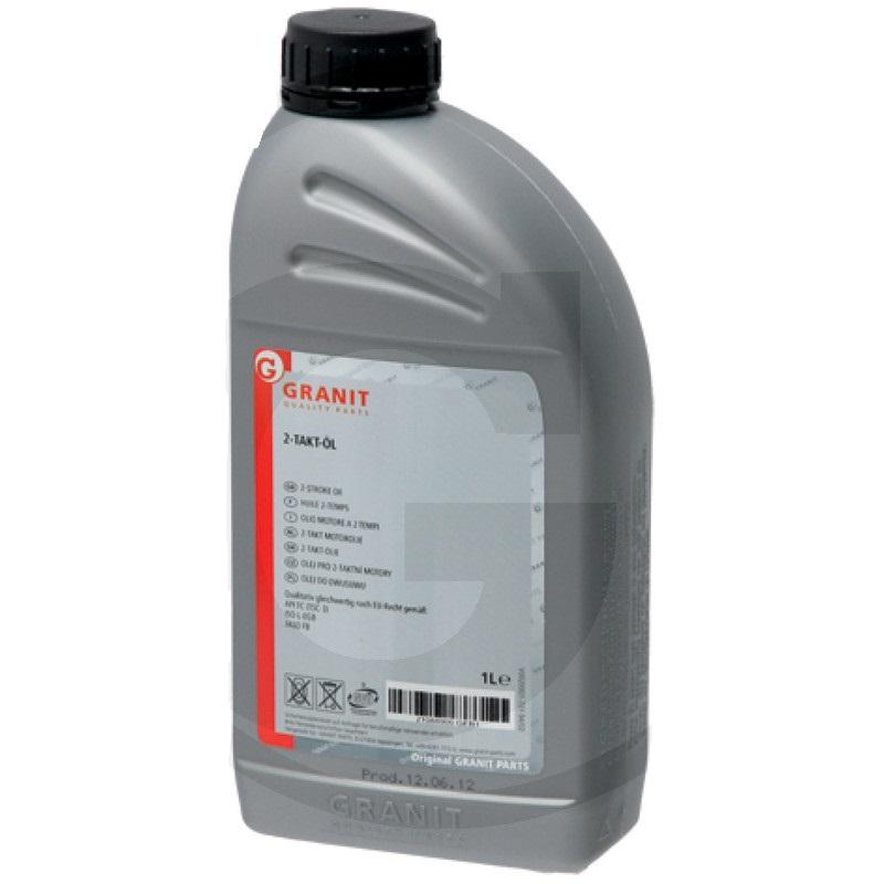 Olej do dvoutaktních motorů Granit 1 l samosmísitelný polosyntetický HC