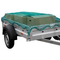 Ochranná síť pro přívěsy, přívěsné vozíky k zajištění nákladu zelená