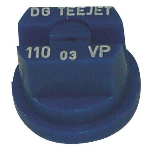 TeeJet DG rovnoměrná plochá postřikovací tryska 110° plastová modrá