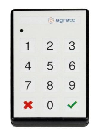 Vysílač dálkového ovládání pro přejezdové váhy Agreto 12 tlačítek