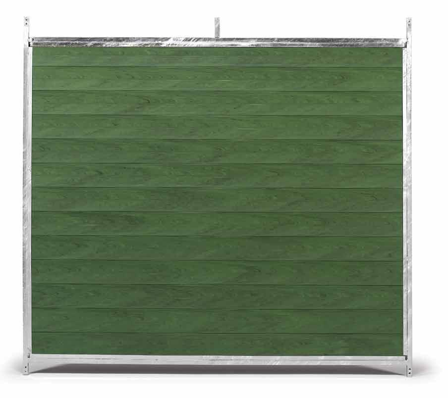 Stěna venkovního boxu 1,5 x 1,85 m pro psy z PVC