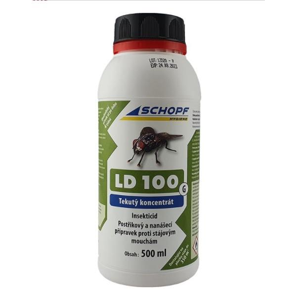 Schopf LD 100 G tekutý koncentrát k hubení much ve stáji 500 ml, účinná látka Permethrin