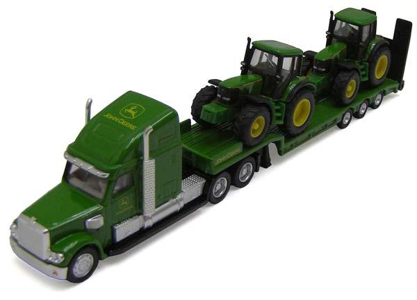 Siku – podvalník se dvěma traktory John Deere 6920 1:87