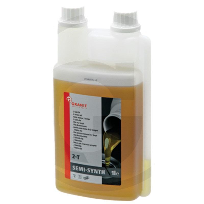 Olej pro dvoutaktní motory Granit 2T 1 l dávkovací láhev samosmísitelný polosyntetický HC
