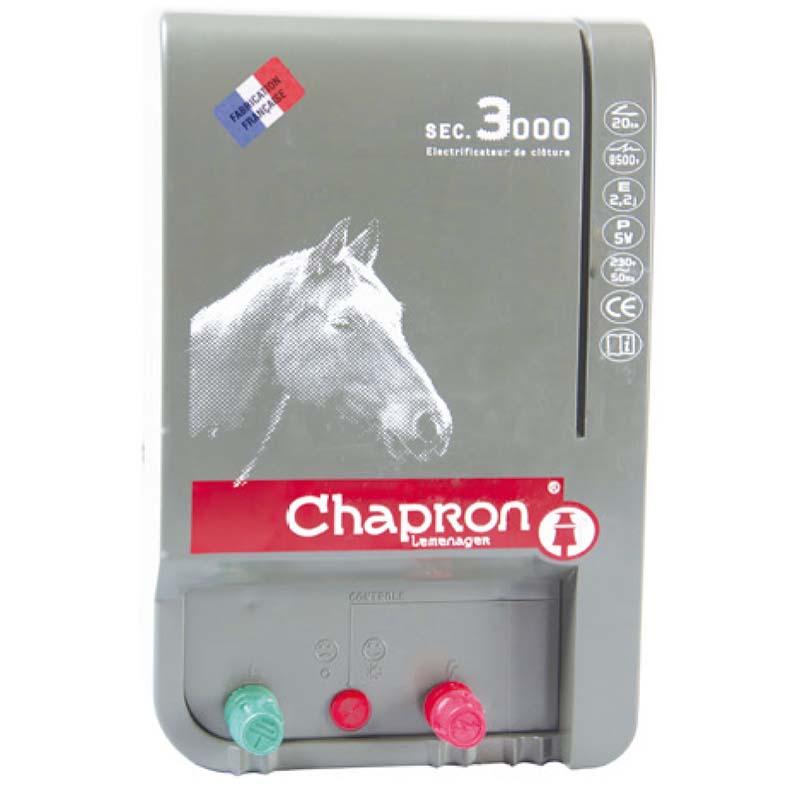 Síťový zdroj pro elektrický ohradník Chapron SEC 3000 napětí 230V, 2,2 J