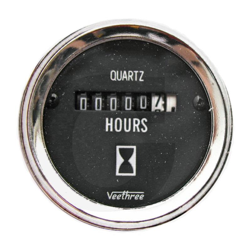 Počítadlo provozních hodin analogové 8 - 28V průměr 52 mm