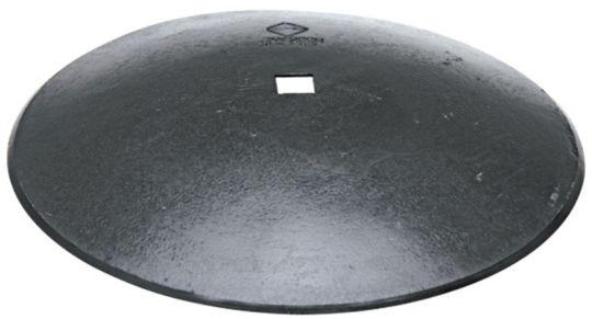 Hladký disk diskové brány průměr 610 mm, tloušťka 6 mm pro hřídel 40 x 40 mm