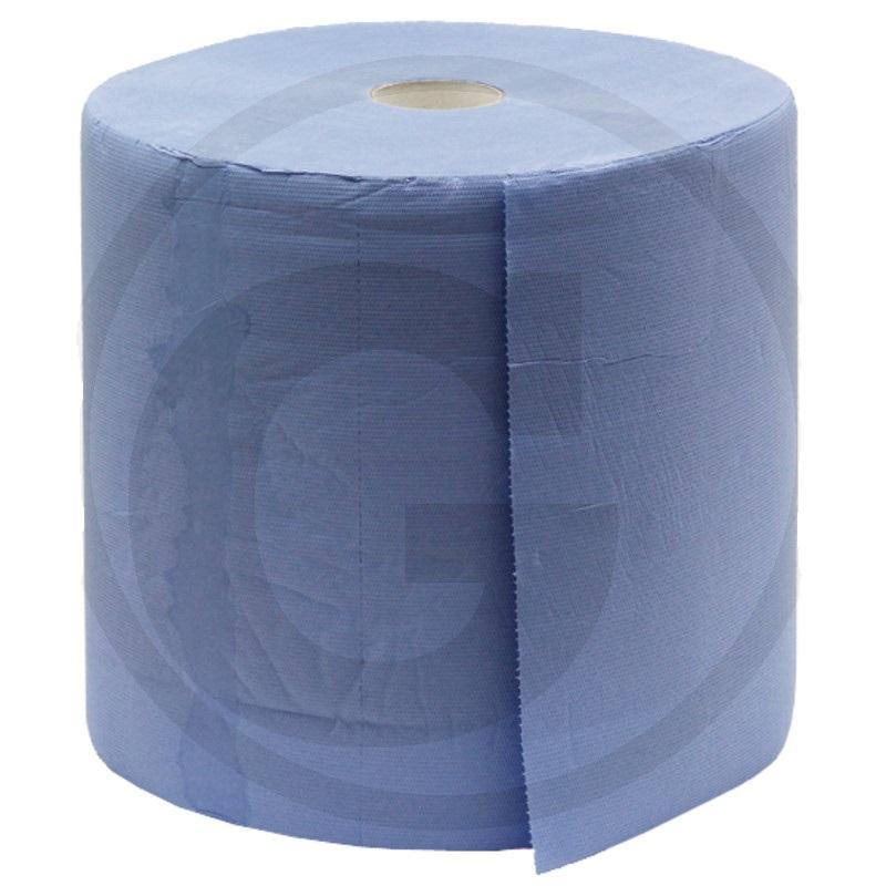 Papírový ručník Granit 1000 útržků 340 x 350 mm 3-vrstvý modrý, utírací papírová role