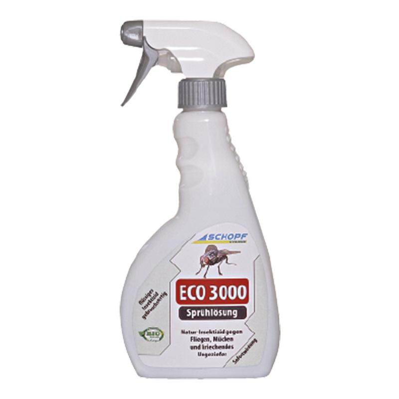 Schopf ECO 3000 BIO roztok s rozprašovačem k hubení much, komárů, ovádů, lezoucího hmyzu