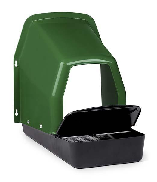Kukaň pro slepice jednomístná plastová k připevnění na zeď včetně plastového košíku