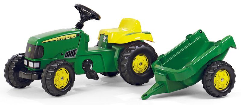 Rolly Toys - šlapací traktor John Deere s vozíkem modelová řada Rolly Kid
