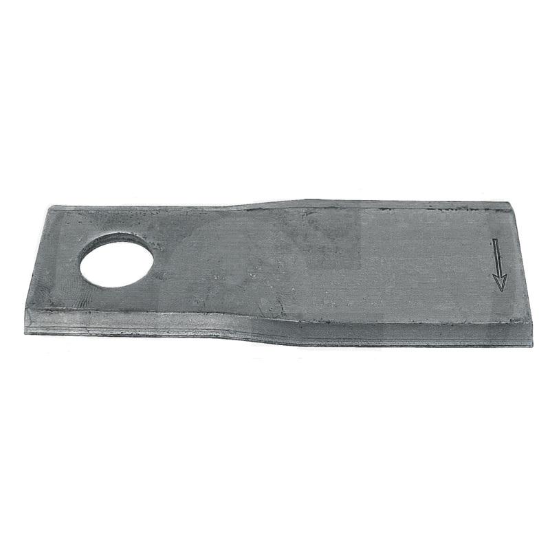 Nůž rotační pravý pro Fort, Kuhn, New Holland bubnové sekačky 107 x 45 x 4 mm