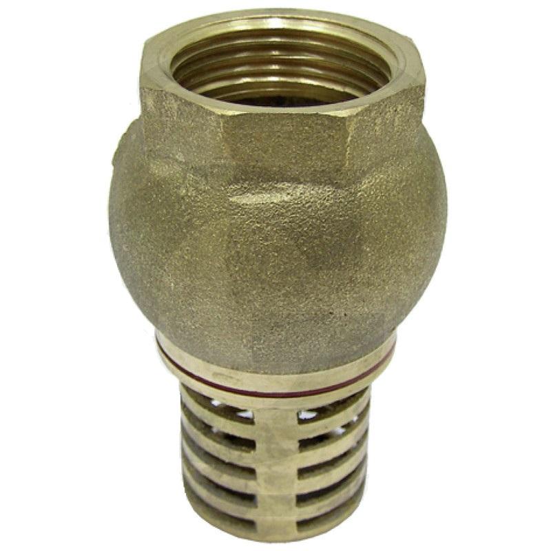 Patní ventil, sací koš pro sací hadice na zahradní čerpadla přípoj 1 1/4″ vnitřní závit