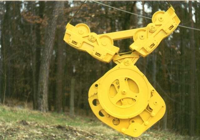 Vozík pro lesní lanovku na dřevo KOS-31