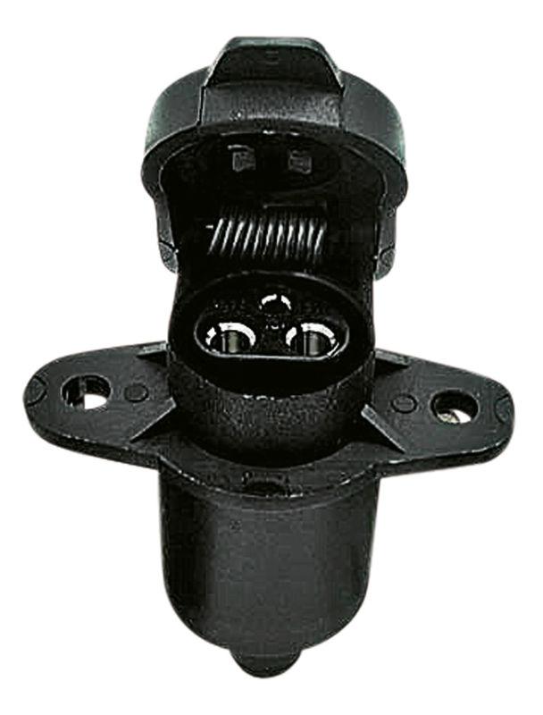 Zásuvka 3-pólová 12V/25A plastová