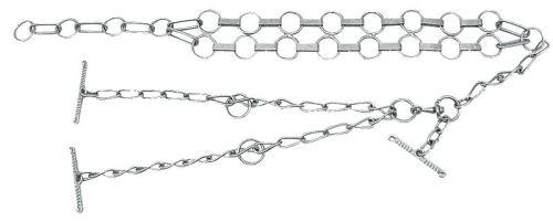 Fixační řetěz na býky s plochými články a obojkem