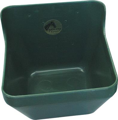 Přímý plastový krmný žlab OK PLAST pro koně, skot, dobytek 16 l