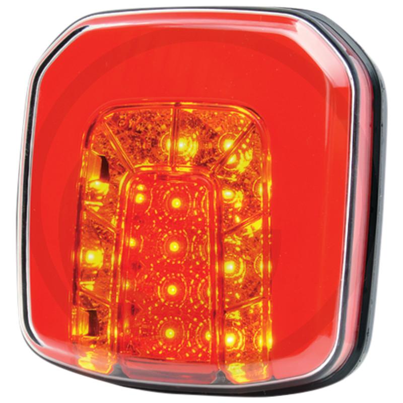LED zadní světlo 12/24V levé a pravé koncové, brzdové, směrové čtvercové