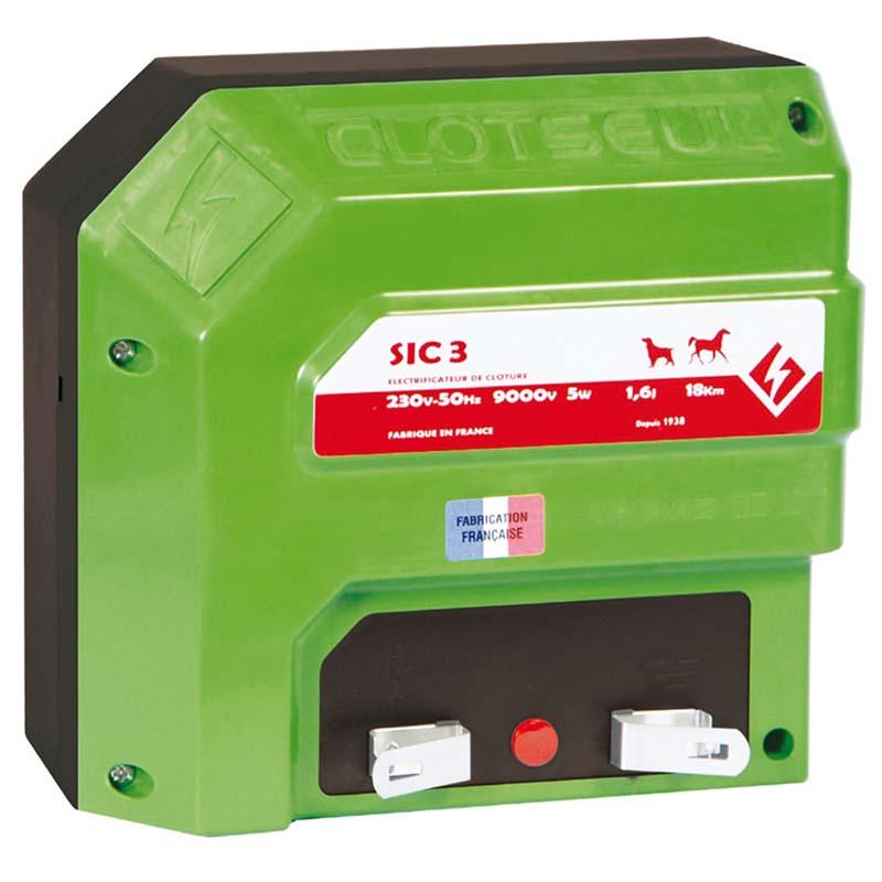 Síťový zdroj pro elektrický ohradník CLOTSEUL SIC 3 napětí 230V, 1,6 J