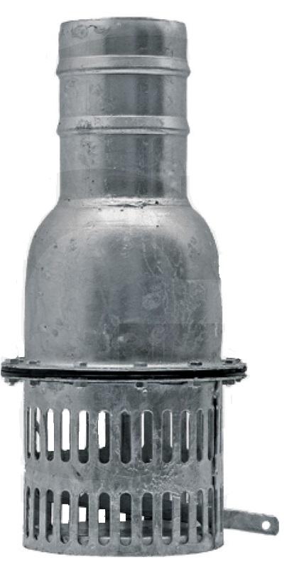 Vertikální patní ventil 6″ z ocelového plechu kapacita 180 m3/h